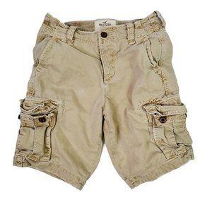 Hollister Men's Button Fly Cargo Shorts Size 28